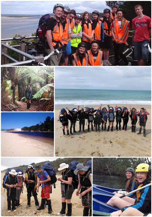 Week 3 Antics - Students exploring the environment by foot, canoe and bike